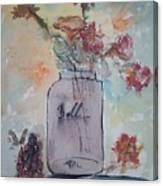 Ball Jar Vase Canvas Print
