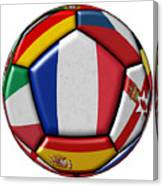 Ball With Flag Of France In The Center Canvas Print