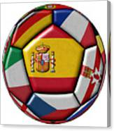 Ball With Flag Of Spain In The Center Canvas Print