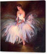 Ballerina Ballet Dancer Archival Print Canvas Print