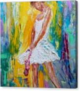 Ballerina Before The Dance Canvas Print