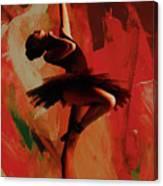 Ballerina Dance 0800 Canvas Print