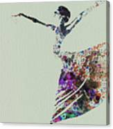 Ballerina Dancing Watercolor Canvas Print