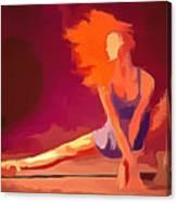 Ballerina Red Canvas Print