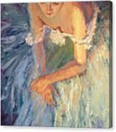 Ballerina Resting Canvas Print