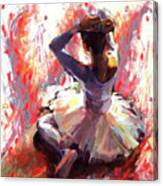 Ballet Dancer Siting  Canvas Print