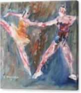 Ballet Dancers Heart Canvas Print