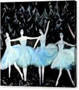 Ballet In Blue Canvas Print