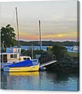 Ballina Boats Canvas Print