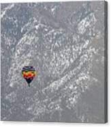 Ballon Verses Mountain Canvas Print