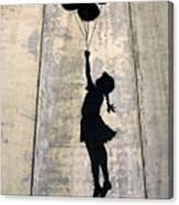 Ballons Girl Canvas Print