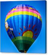Balloon Over Wine Country Canvas Print