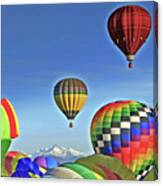 Ballooning Above Longs Peak Canvas Print