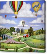 Ballooning In The Country One Canvas Print