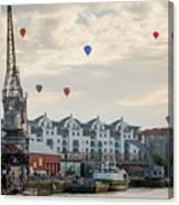 Balloons By Bristol Docks Canvas Print