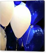 Balloons Of Blue And White Canvas Print