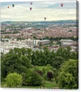 Balloons Over Bristol Uk Canvas Print