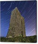 Ballybrit Castle Star Trails Canvas Print