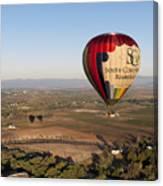 Baloon Riding  Over Temecula Ca Canvas Print