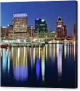Baltimore Blue Hour Canvas Print
