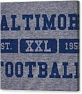 Baltimore Colts Retro Shirt Canvas Print