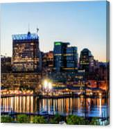 Baltimore Inner Harbor Reflections Canvas Print