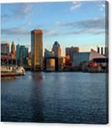 Baltimore Inner Harbor Sunrise Canvas Print