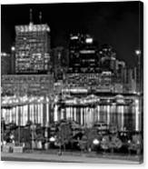 Baltimore Lights Up Brightly Canvas Print