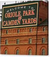 Baltimore Orioles Park At Camden Yards Canvas Print