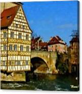 Bamberg Townhall - Germany H A Canvas Print