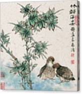 Bamboo And Chicken Canvas Print