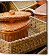 Bamboo Baskets Canvas Print