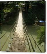 Bamboo Bridge Canvas Print