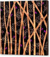 Bamboo Forest At Night Canvas Print