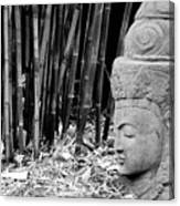 Bamboo Landscape  Statue Asian  Canvas Print
