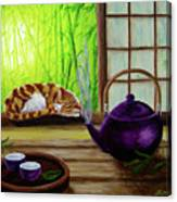 Bamboo Morning Tea Canvas Print