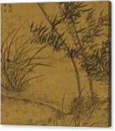 Bamboos And Orchids In The Wind Canvas Print