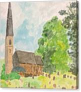 Bamford Church And Serenity Of Nature Canvas Print