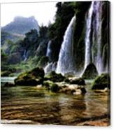 Ban Gioc Vietnam's Most Beautiful Waterfall  Canvas Print