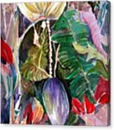 Banana And Pods Canvas Print