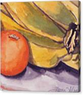 Bananas And Blood Oranges Still-life Canvas Print