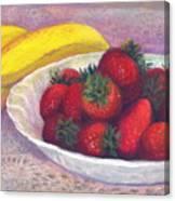 Bananas And Strawberries Canvas Print