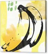 Bananas- Art by Linda Woods Canvas Print