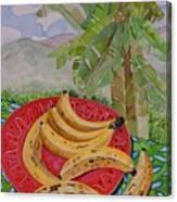 Bananas On A Plate Canvas Print