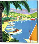 Bandol, French Riviera, Boats On Port Canvas Print