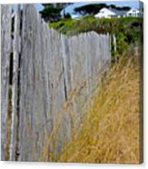 Bandon Beach Fence Canvas Print