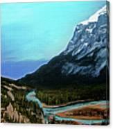 Banff Alberta Rocky Mountain View Canvas Print