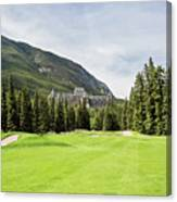 Banff Springs Golf And The Castle Canvas Print