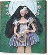 Banjo Lady Canvas Print