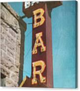 Bank Bar Canvas Print